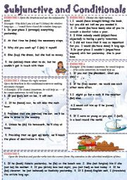 English Worksheets: SUBJUNCTIVE and CONDITIONALS.
