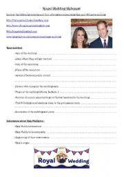 Royal Wedding Webquest
