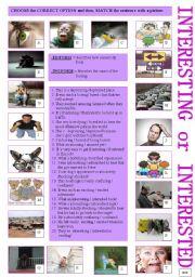 English Worksheets: Interesting or Interested?