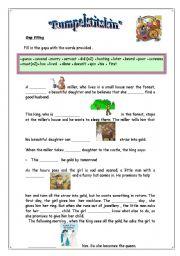 English Worksheets: RUMPELSTITSKIN-SUMMARY