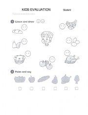 English Worksheets: Kids evaluation