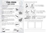 English Worksheet: The Frog: Life Cycle