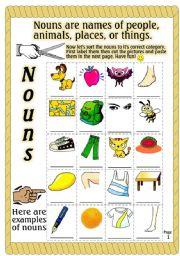 math worksheet : english teaching worksheets cut and paste : Noun Worksheets For Kindergarten