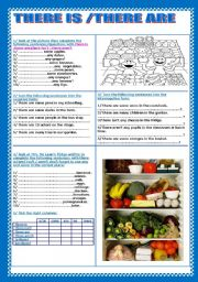English Worksheets: there is/ there are