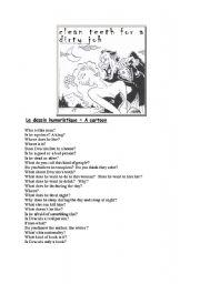 English Worksheet: Dracula, clean teeth for a dirty job