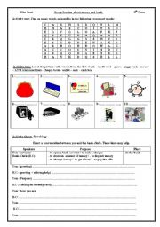 English Worksheet: Group session about Money