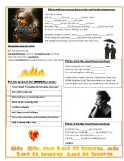 English Worksheets: Set Fire to the Rain by ADELE
