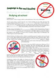 Bullying - Language in Use and Reading