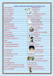 English Worksheets: Useful expressions