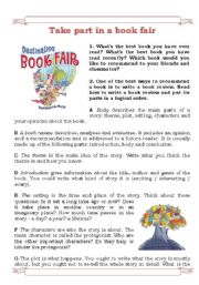 English Worksheets: Take part in a book fair!
