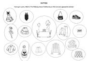 English Worksheet: clothes speaking activity PRELIMINARY ENGLISH TEST (PET)