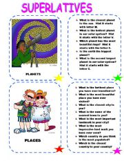English Worksheet: CONVERSATION  SUPERLATIVES