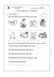 English Worksheets: How often