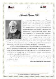 English Worksheet: Alexander Graham Bell