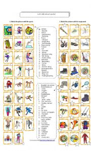 English Worksheets: LET�S TALK ABOUT SPORTS!