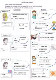 English Worksheet: what´s the matter at the doctor