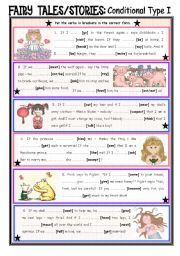 English Worksheet: Fairy Tales/Stories (25): Conditional Sentences Type 1