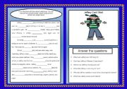 English Worksheets: Reading Comprehension and Grammar in Context