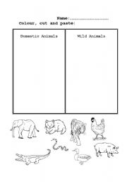 math worksheet : english teaching worksheets domestic animals : Wild Animals Worksheets For Kindergarten