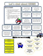 English Worksheets: Let�s chat about CRIME