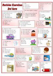 English Worksheets: Revision worksheet - part 1