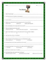 English Worksheets: LIAR LIAR movie questions