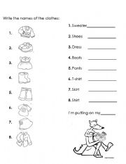 vocabulary clothes level elementary age 5 6 downloads 16 clothes