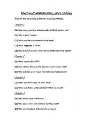 English Worksheets: Mick Doohan - Reading Comprehension