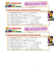 English Worksheet: subject-verb agreement exercises