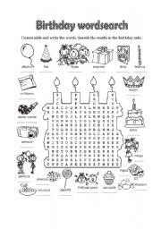 English Worksheet: Happy Birthday - 2 of 6