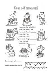 English worksheet: Happy Birthday - 3 of 6