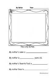 English Worksheets: My Mum