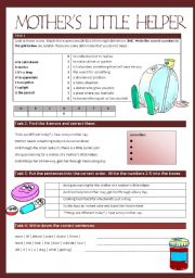 English Worksheets: Mother�s little helper - The Rolling Stones