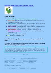 English Worksheet: Story telling- Piano Man