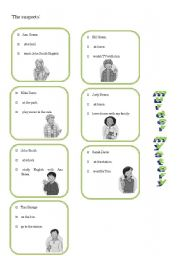 English Worksheet: let�s play detective: murder mystery