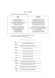 English Worksheet: The I am poem