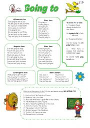 English Worksheet: BE GOING TO
