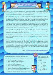 English Worksheet: The history of surfing 1: its origins