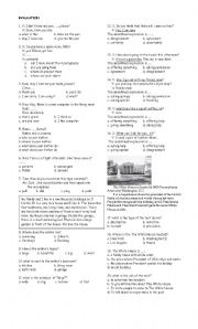 English worksheet: question and response