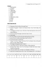 English Worksheets: Matching of book title and genre