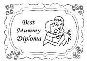 English Worksheet: Mother´s Day Diploma