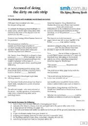 English Worksheets: cused of doing the dirty on cafe strip