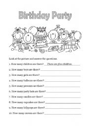 English Worksheet: Happy Birthday - 4 of 6