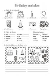 English Worksheet: Happy Birthday - 6 of 6