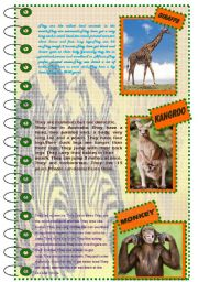 English Worksheet: FACTS ABOUT ANIMALS SET (mammals 1)