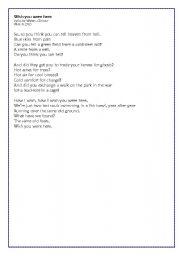 English Worksheet: WISH YOU WERE HERE - Pink Floyd