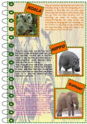 English Worksheets: FACTS ABOUT ANIMALS SET(mammals 2)