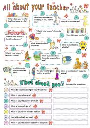 English Worksheet: ALL ABOUT YOUR TEACHER