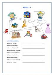 English worksheet: whose
