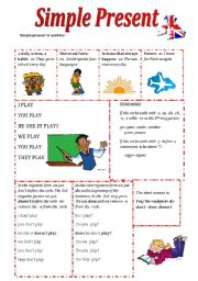 Simple Present Grammar Exercises Esl Worksheet By Olaola